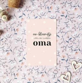 Minikaartje: een bloemetje voor de liefste OMA
