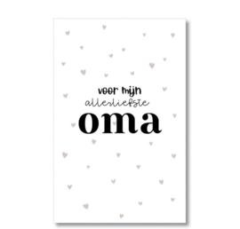 Minikaartje: voor mijn allerliefste oma (M)