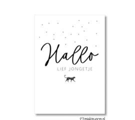 Postcard: hallo lief jongetje