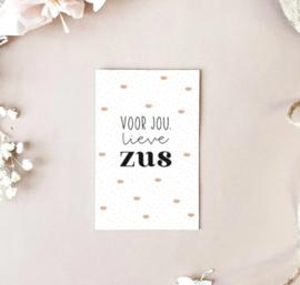 Minikaartje: voor jou lieve ZUS (M)