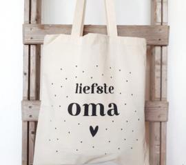 Tas voor de liefste oma, inclusief mini kaartje