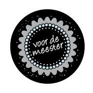 Sticker: voor de Meester