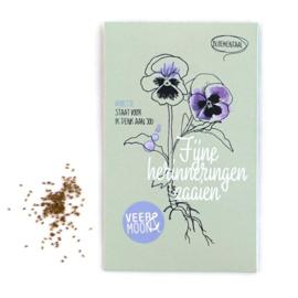 Zakje bloemenzaadjes: 'fijne herinneringen zaaien'