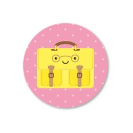 5 stickers, aktetas geel