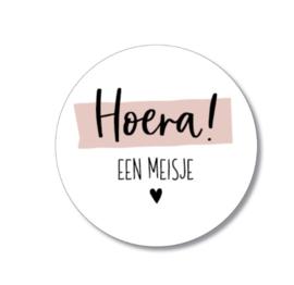 5 stickers: hoera een meisje