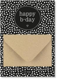 Geldkaart: happy b-day