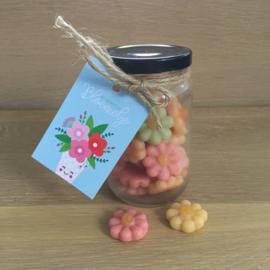 Kado potje: dat verdient een bloemetje (snoepjes)