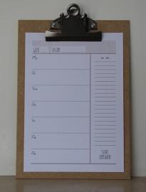 Houten klembord L/A4, onbewerkt, vintage klem
