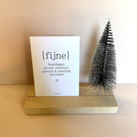 Brievenbusdoosje: Memory shelf kerstboom