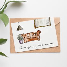 Postcard: groetjes uit woonkameroen