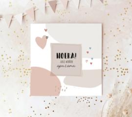 Dubbele postcard incl envelop: HOERA! jullie worden opa en oma