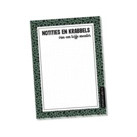 Notities en krabbels voor een toffe meester, A6 formaat