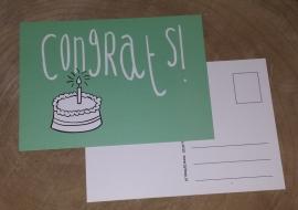 Postcard: Congrats