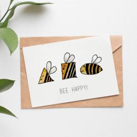 Postcard: Bee happy