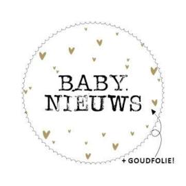 5 x Kado sticker: BABY NIEUWS