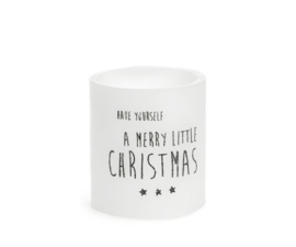 Windlicht: merry little christmas