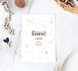 Postcard: Hoera! een baby