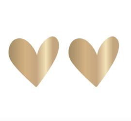 5 kado stickers Ø 55 mm: gouden hart