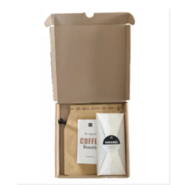 Doosje vol leuks: coffee break (koffie en chocolade)