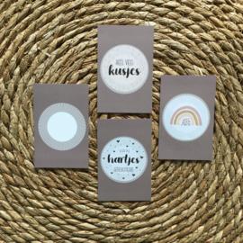 Mini kaartje DIY (inclusief kadosticker naar keuze) (K)