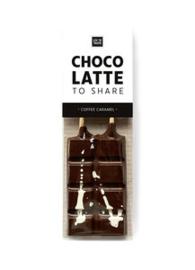 Choco latte: to share (chocolademelk met koffie karamel smaak)