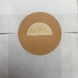 5 x kado sticker regenboog, honing