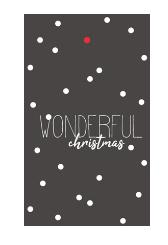 klein kadokaartje: WONDERFUL christmas