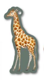 Kado label: giraf