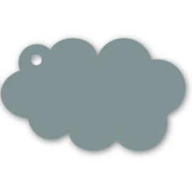 Kadolabel wolk, groen