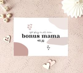 Postcard: zo blij met een bonus mama als jij