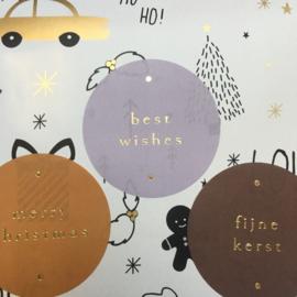 2 x 3 kerst kado stickers