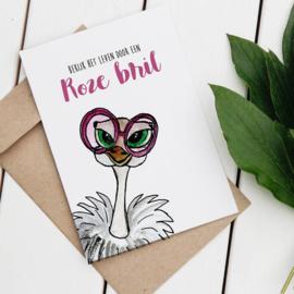 Postcard: bekijk het leven door een roze bril