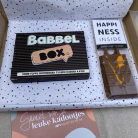 Doosje vol leuks, familie babbelen & chocolademelk voor 2
