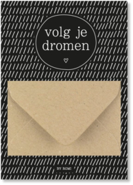 Geldkaart: volg je dromen