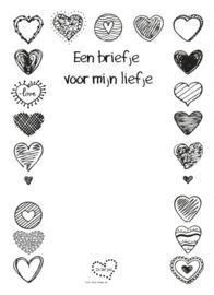 notitieblokje: een briefje voor mijn liefje (10 x 14 cm)