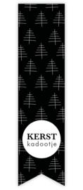 5 x kado sticker: kerst kadootje (label)