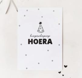 Postcard: hieperdepiep HOERA