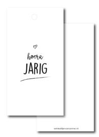 Kado label: hoera JARIG