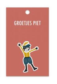 Kado label Piet, rood