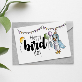 Postcard: happy bird day