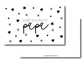 Minikaartje, allerliefste Papa