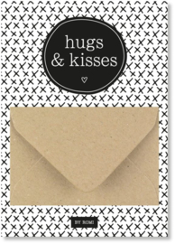 Geldkaart: hugs & kisses