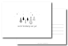10 kerstkaarten, wit/zwart