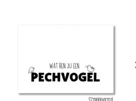 Postcard: wat ben jij een PECHVOGEL