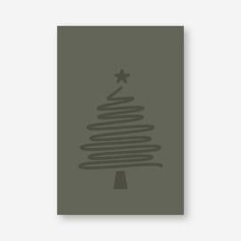 Mini kaartje: 'kerstboom' (K)