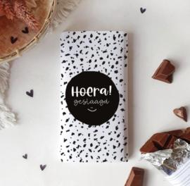 Chocolade wikkel: HOERA! geslaagd *