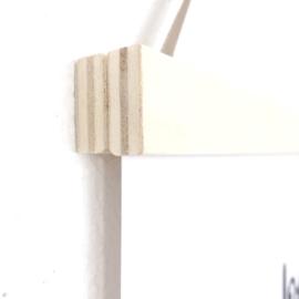 Poster ophangsysteem hout, A4/A5 (zwart lint)