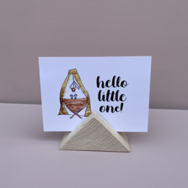 Kaartenhouder driehoek, blank hout
