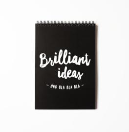 Notitieboekje A5, brilliant ideas