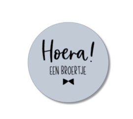 5 stickers: hoera een broertje